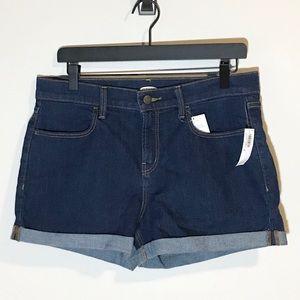 NWT Old Navy dark wash high rise jean shorts